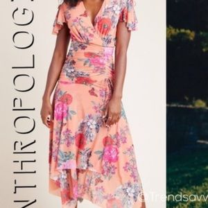 Anthropologie Simone floral midi dress by Maeve